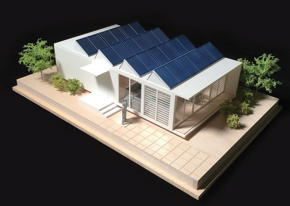 Low-cost, modular housing system developed in conjunction with SG Blocks.