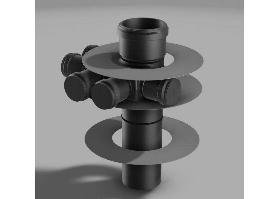 Polypipe Terrain assembly with ring seal joints