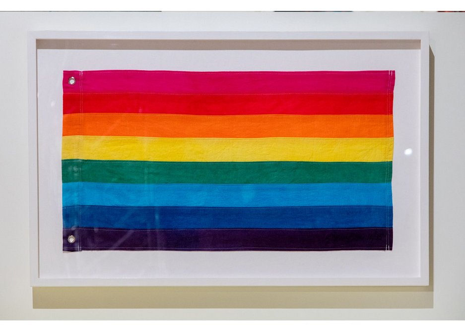 Rainbow Flag, designed by Gilbert Baker, at California: Designing Freedom.