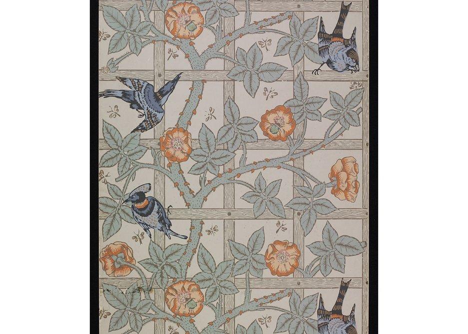 William Morris Trellis wallpaper design.