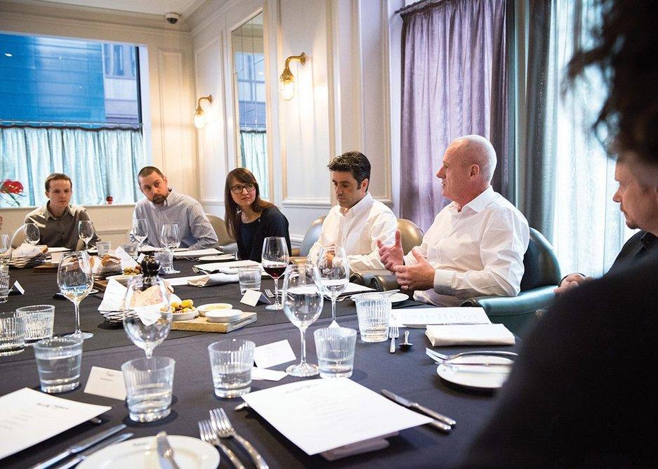 (From left) Anthony Campbell, Joe Stott, Natalia Maximova, Dave Moyes and Graham Roche.
