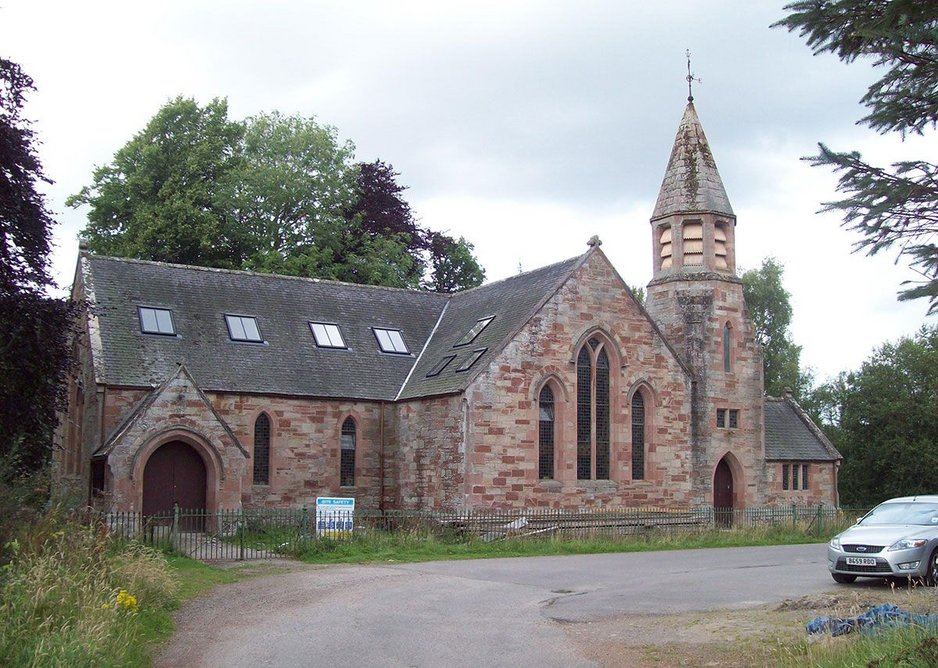 Bogallan Church conversion, Knockbain: Fakro offers a choice of three installation depths and fitting can be to rafters or battens.