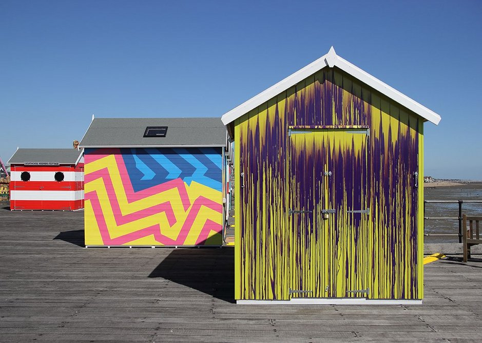 Wish You Were Here, an exhibition of ten artist-designed beach-huts at Southend Pier.