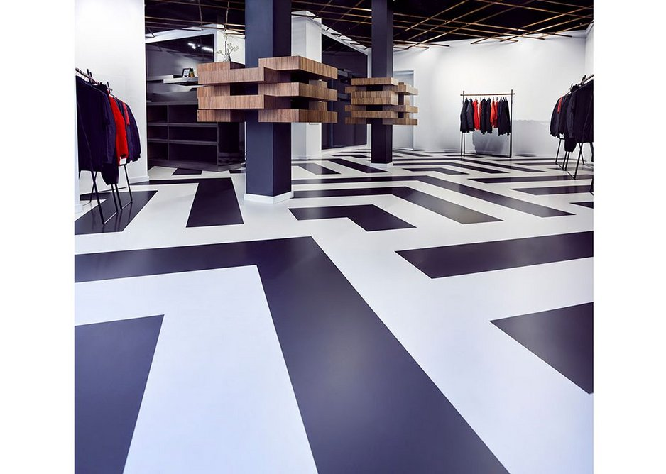 Arturo resin floors can be used to create striking patterns.
