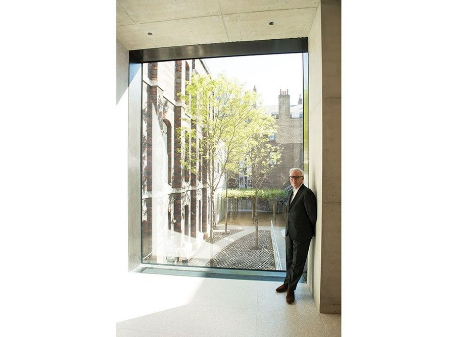 David Chipperfield RA provides some useful scale. Yes, it is the big window on his bridge.