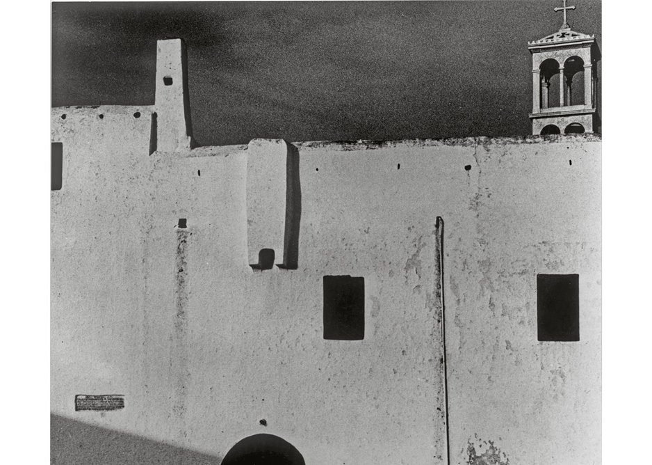 Chamberlain, Powell & Bon sent out a series of architectural greeting cards, this one from the Island of Mykonos.