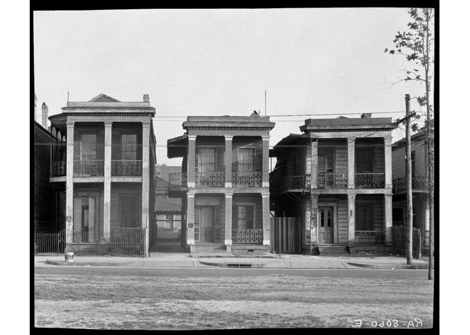 Walker Evans, Frame Houses, New Orleans, Louisiana, 1936.