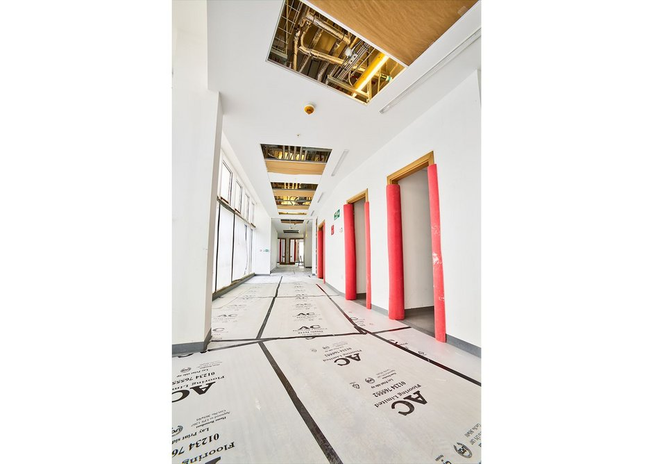 Dry wall construction using Siniat's Megadeco product.