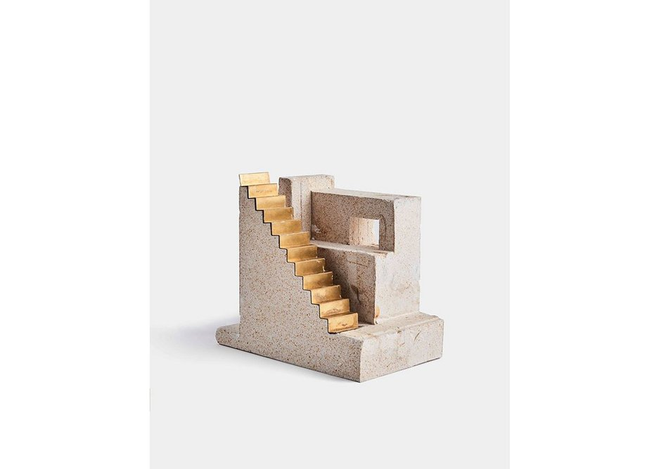 HASA Architects' Long Lane apartments stair model from the exhibition Architecture Prototypes & Experiments at the Aram Gallery.