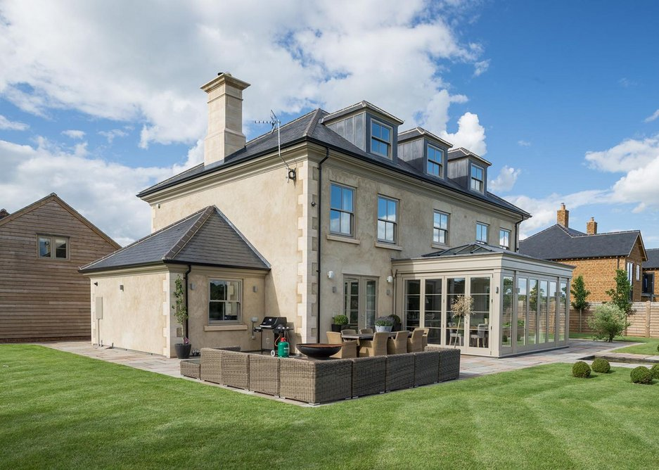 Supplied by Castle Roofing, cupa r12 excellence is a dark grey slate with thin laminations and a smooth matt surface.