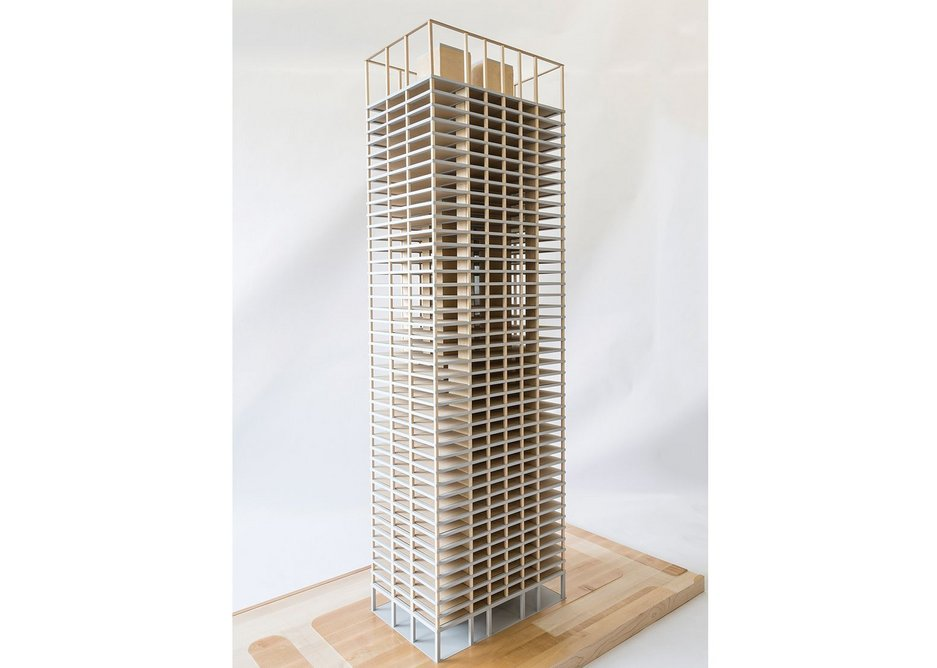 SOM's research into a composite timber and concrete skyscraper holds the key to reducing embodied energy.