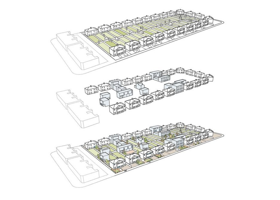 HTA Design's supurbia places intensification in the hands of existing homeowners.