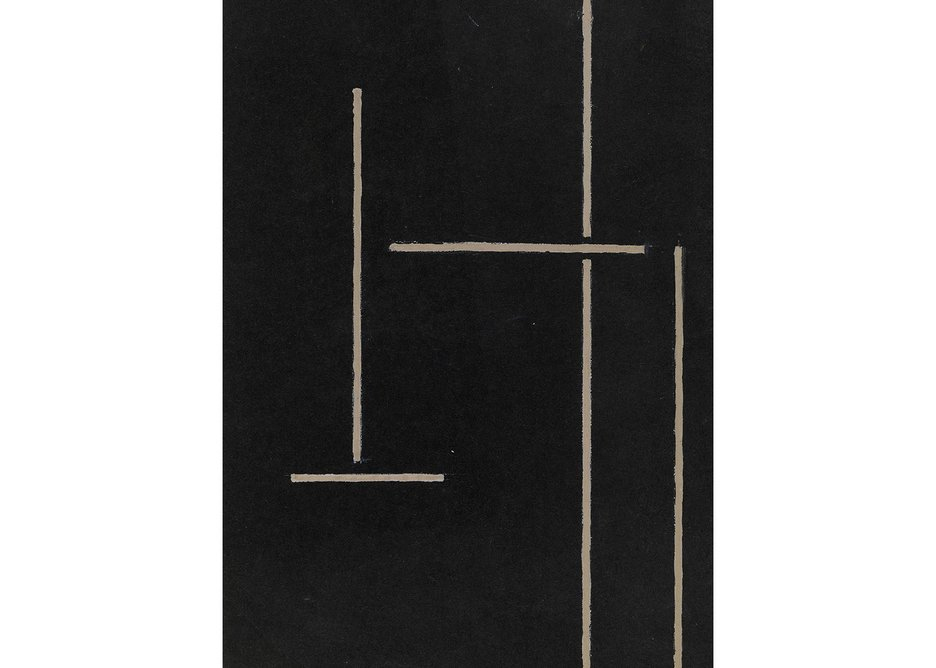 Eileen Gray, Study for a Rug, 1920s. Gouache on paper 26 × 17.5 cm.