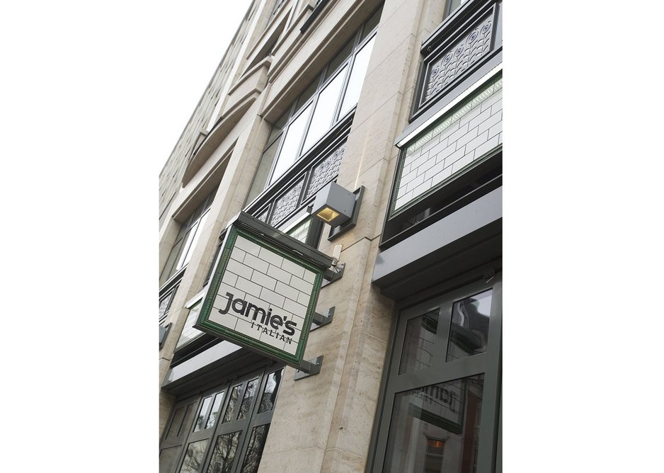 The outside of Jamie's Italian in Covent Garden, London.