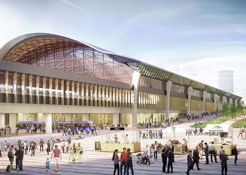 What are the possibilities around HS2's Curzon Street station in Birmingham. Design by WSP UK with Grimshaw Architects.