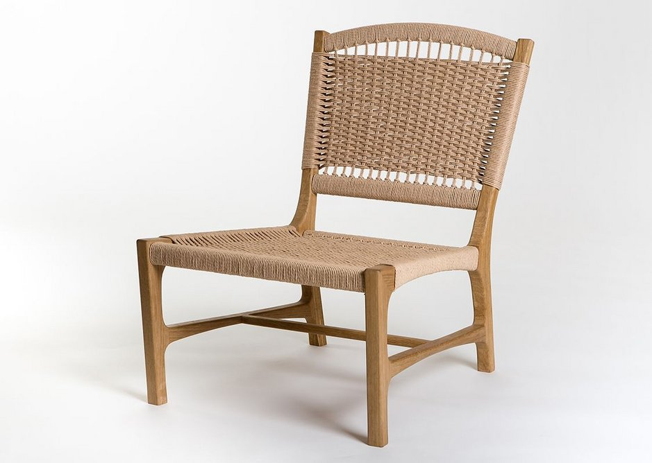 Student designer - Juan Junca of the Building Crafts College produced the Milena easy chair in European Oak .