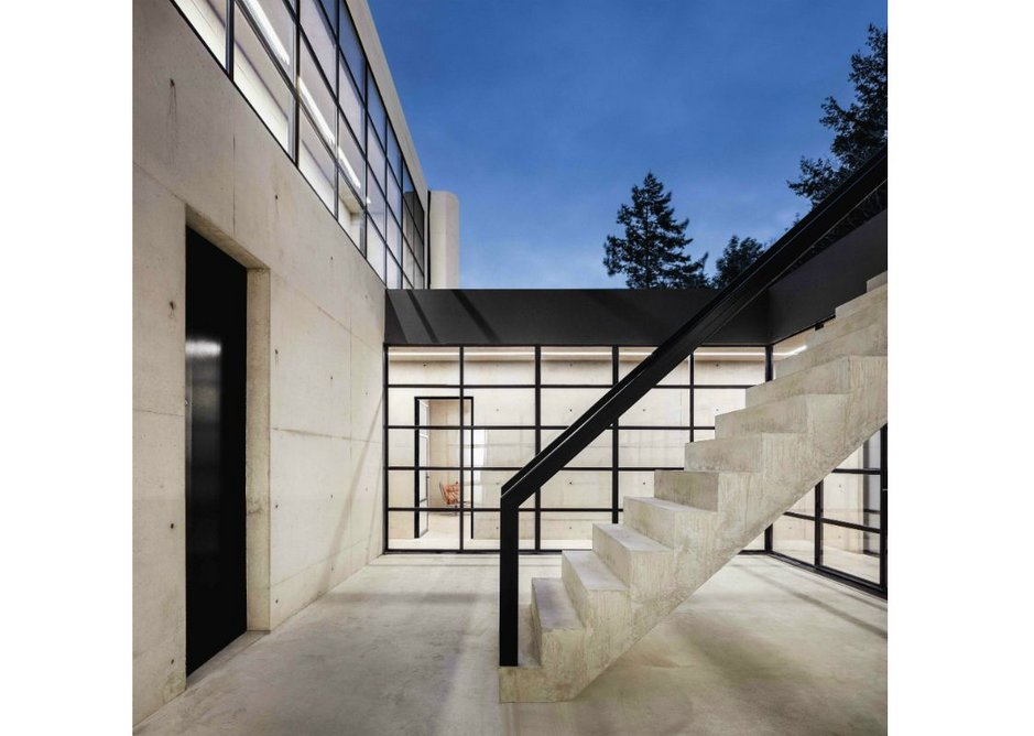 The house revolves around an unexpected sunken courtyard.