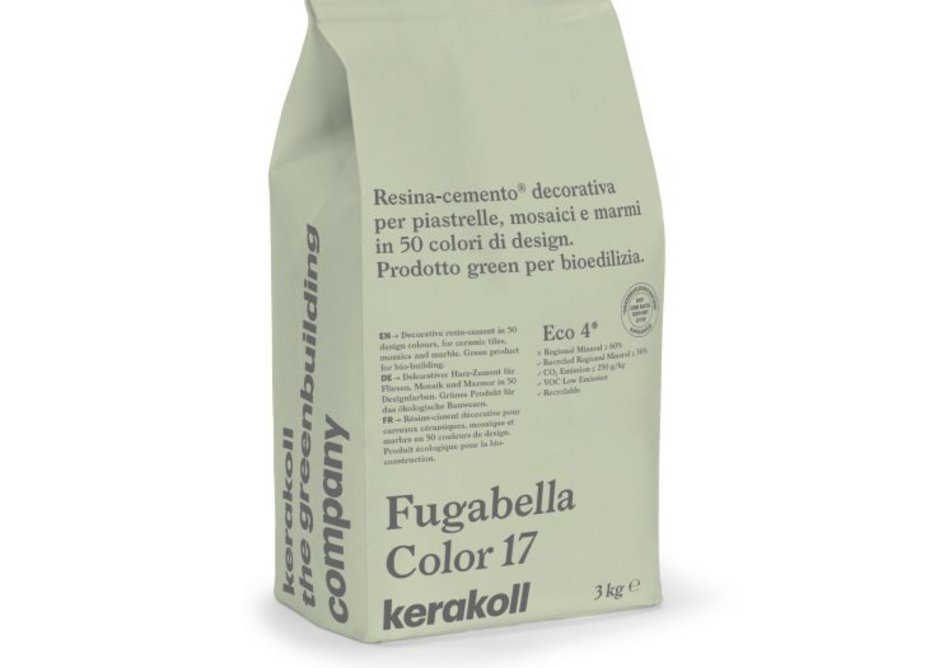Kerakoll Fugabella Color is a resin-cement hybrid with performance values close to the standards set for reactive resin grouts.