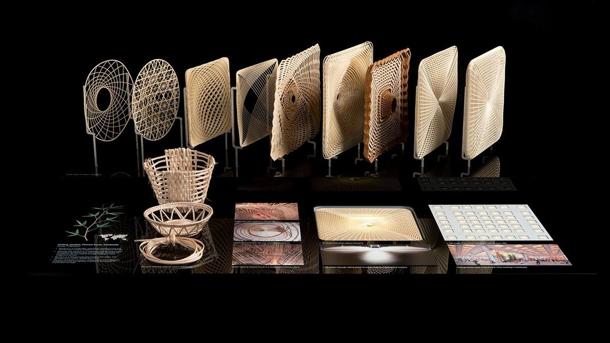 Bamboo ceiling model for the new Phnom Penh VVIP International Airport, designed by Foster + Partners.