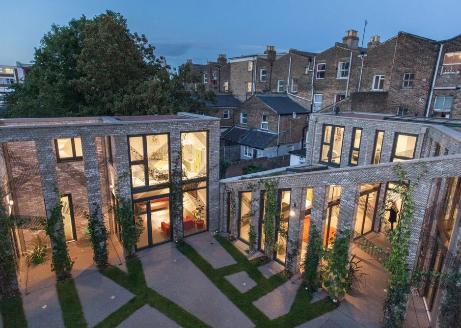 The outside space plays a vital social role at Forest Mews.