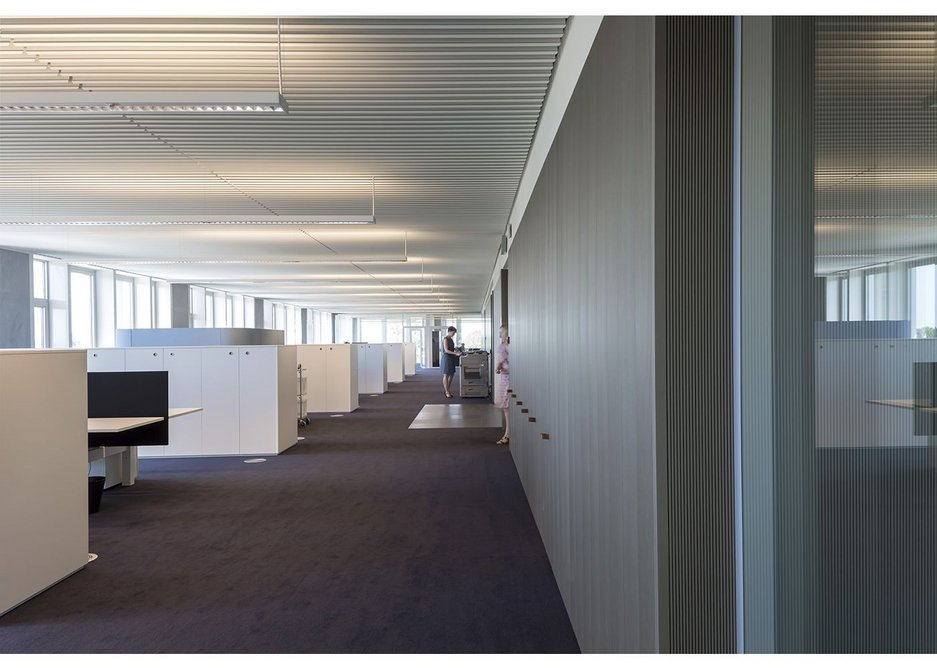 Typical spacious office floor. The core contains WCs, a kitchen, archive and other stores.