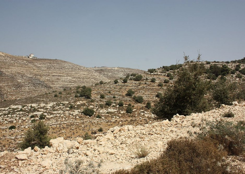 Proposed site outside Hebron.