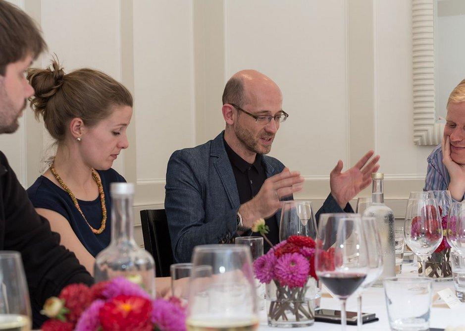 From left: Dirk Krolikowski, RIBAJ assistant editor Isabelle Priest, Peter Barbalov from Farrells and  Pierre Wassenaar.