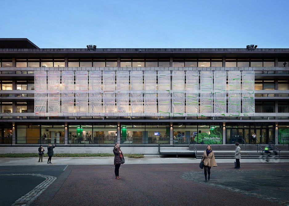 A prototype curtain installed in 2018 on the Printworks building at Dublin Castle covers  the first and second floor of the main facade.