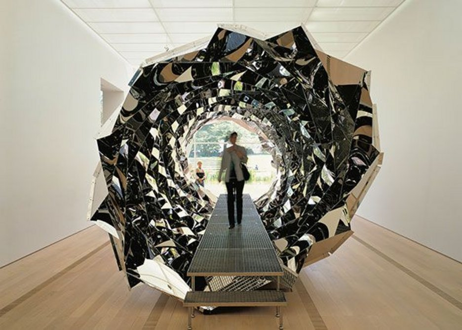Your spiral view, 2002, by Olafur Eliasson. Installation view at Fondation Beyeler, Basel, Switzerland, 2002. Photo: Jens Ziehe. Boros Collection, Berlin.