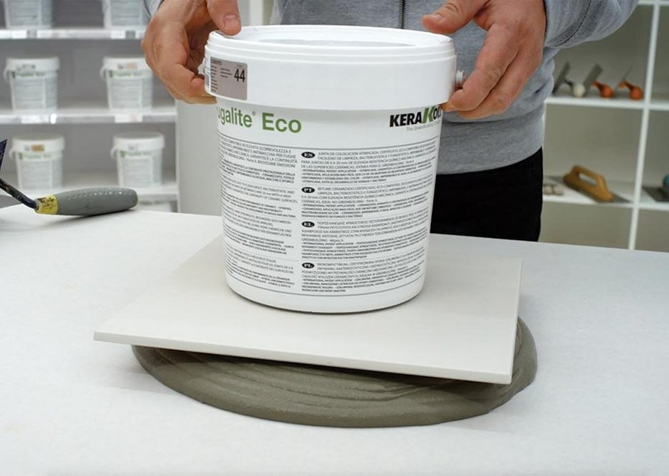 The adhesive holds its shape, making it easy to use.