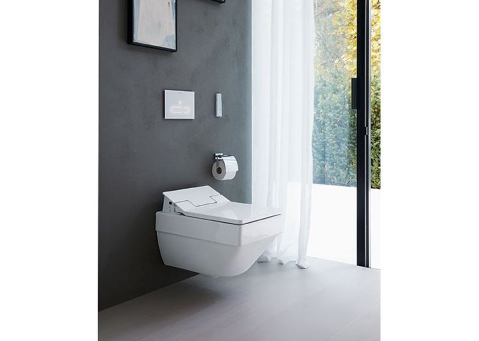 The electronic A2 toilet actuator plates from Duravit's DuraSystem.