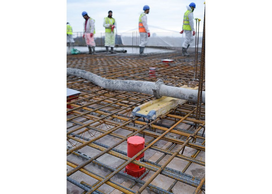 The device is small enough to cope with rebar set out grid...
