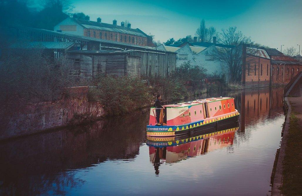 Furor Scribendi, a floating library and retreat by Studio Morison. Photo: Charles Emerson. Courtesy Studio Morison