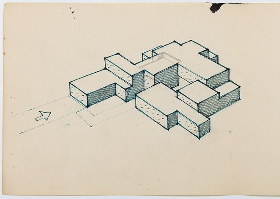 James Gowan, Study for an Expandable House, 1957.