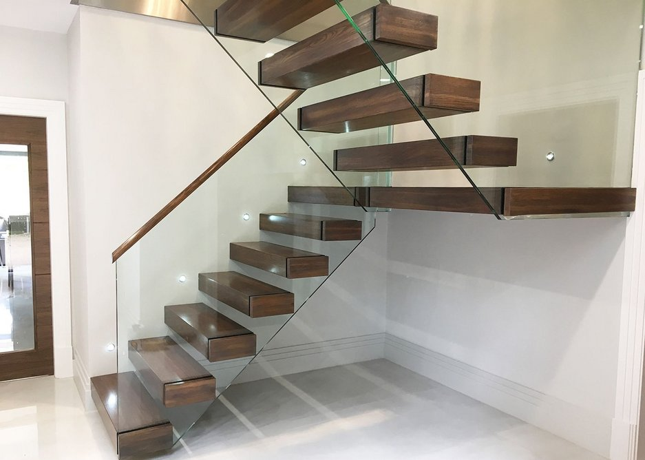 The cantilever staircase has grown in popularity with architects and homeowners alike.