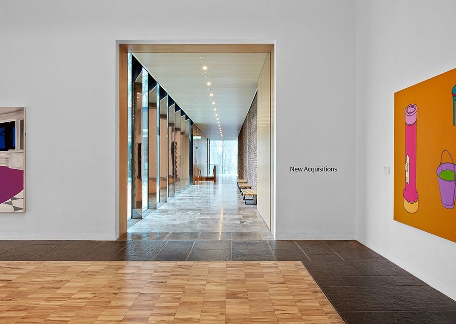 The extension acts a buffer to the exhibiton galleries.