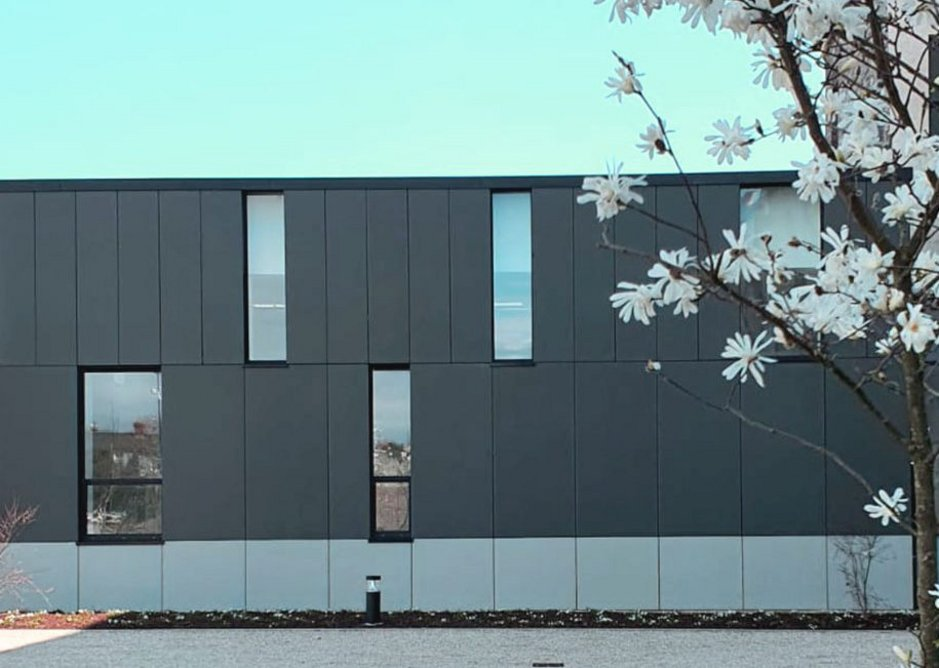 Swisspearl Avera AV 020 and AV 010 fibre cement cladding at a student accommodation block in Grangegorman, Dublin.