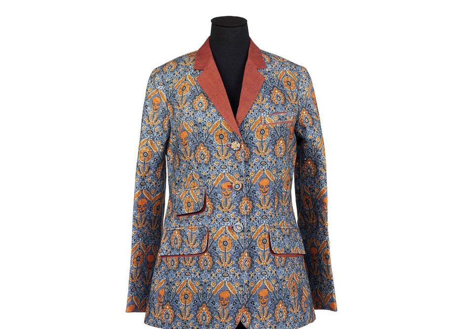 Ajrakh inspired jacket by Rajesh Pratap Singh digitally printed linen New Delhi 2010.