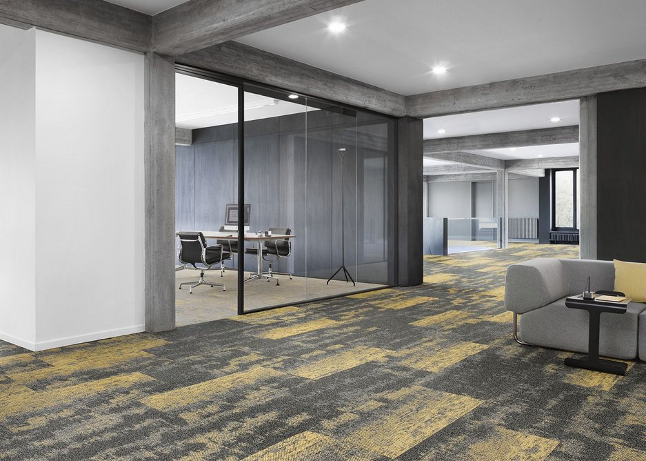 The Desso Street View carpet tile collection is inspired by a bird's eye view of urban landscapes.