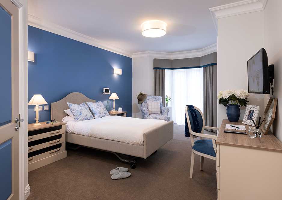 Equinox Tones DSDC-accredited specialist carpet at Hallmark Henley Manor care home, Oxfordshire.