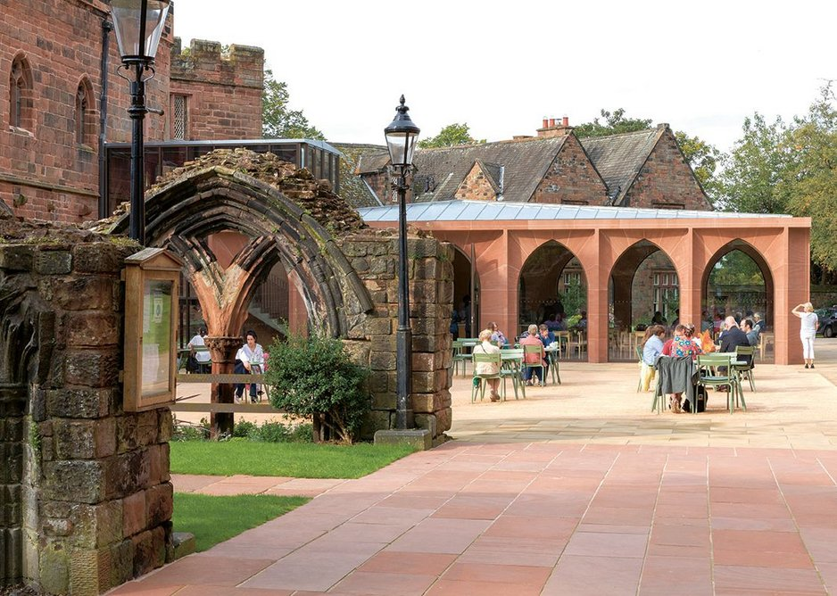 The café opened when lockdown eased in summer and the courtyard was in full use.