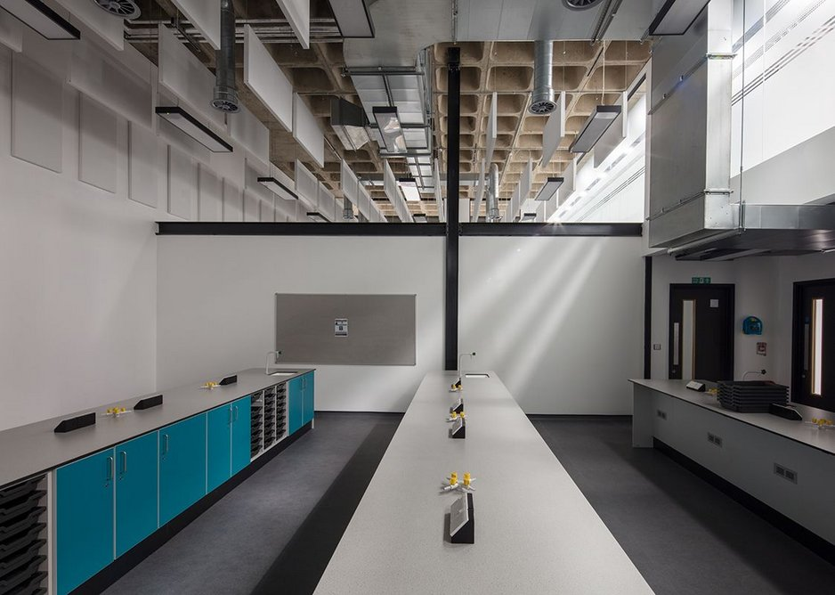 One of the internal lab areas.