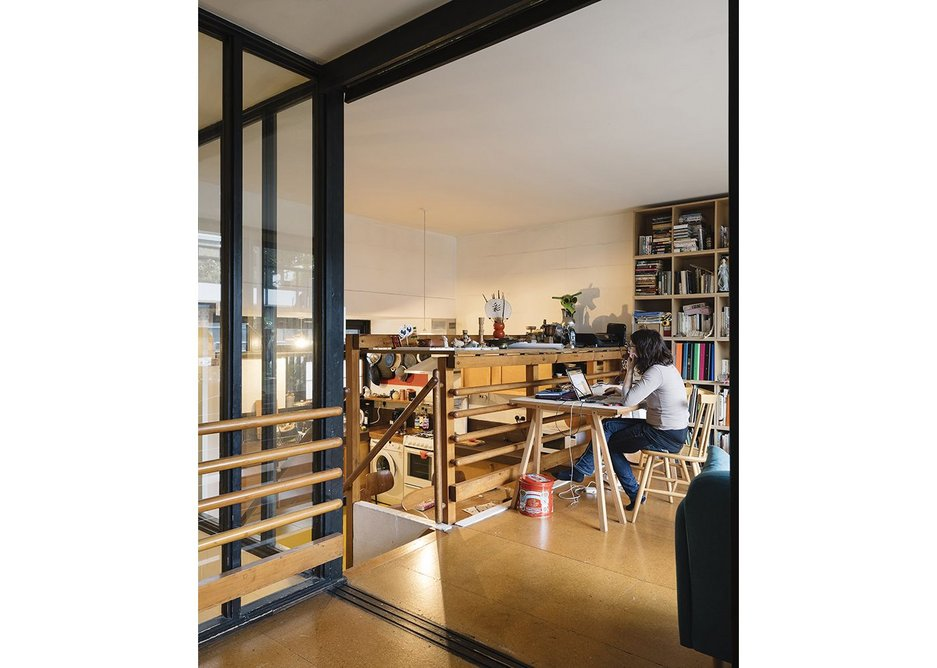 Neave Brown/LBC Fleet Road, lower maisonette, living/kitchen space.