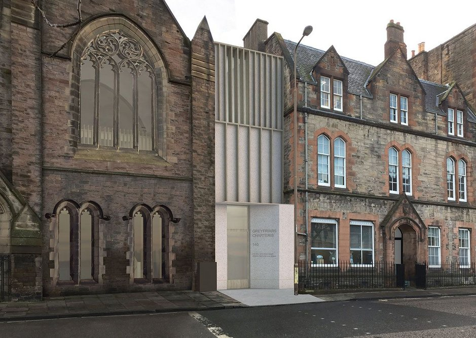 Edinburgh's Greyfriars Charteris Centre eschews stone for timber and Jesmonite.