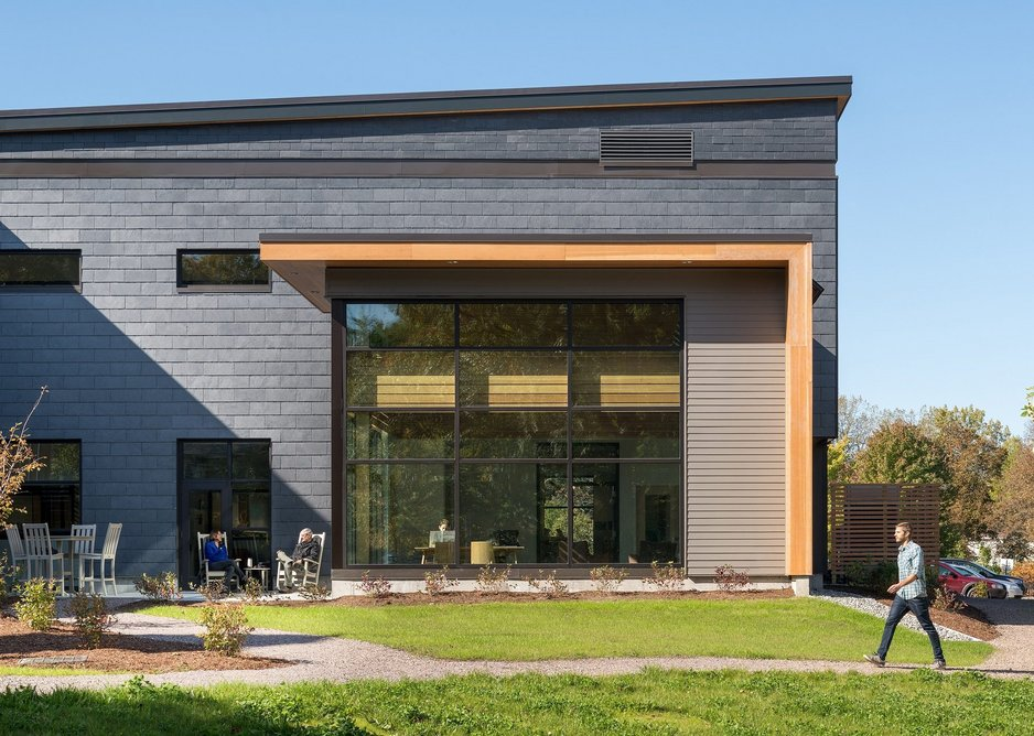 Cupaclad natural slate cladding at Pierson Library, Shelburne, Vermont.
