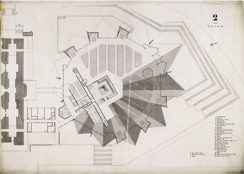 Never-built masterpiece - Lasdun's competition entry for the Liverpool Catholic Cathedral.