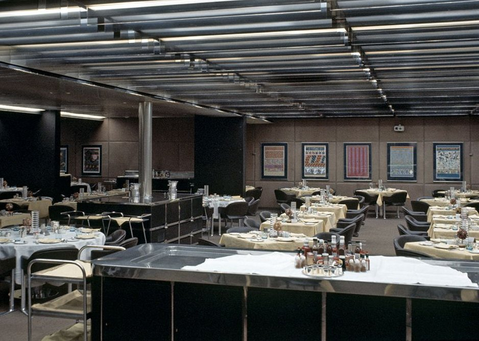 Columbia restaurant on the QE2, from the exhibition QE2 50 Years Later at the Glasgow School of Art.