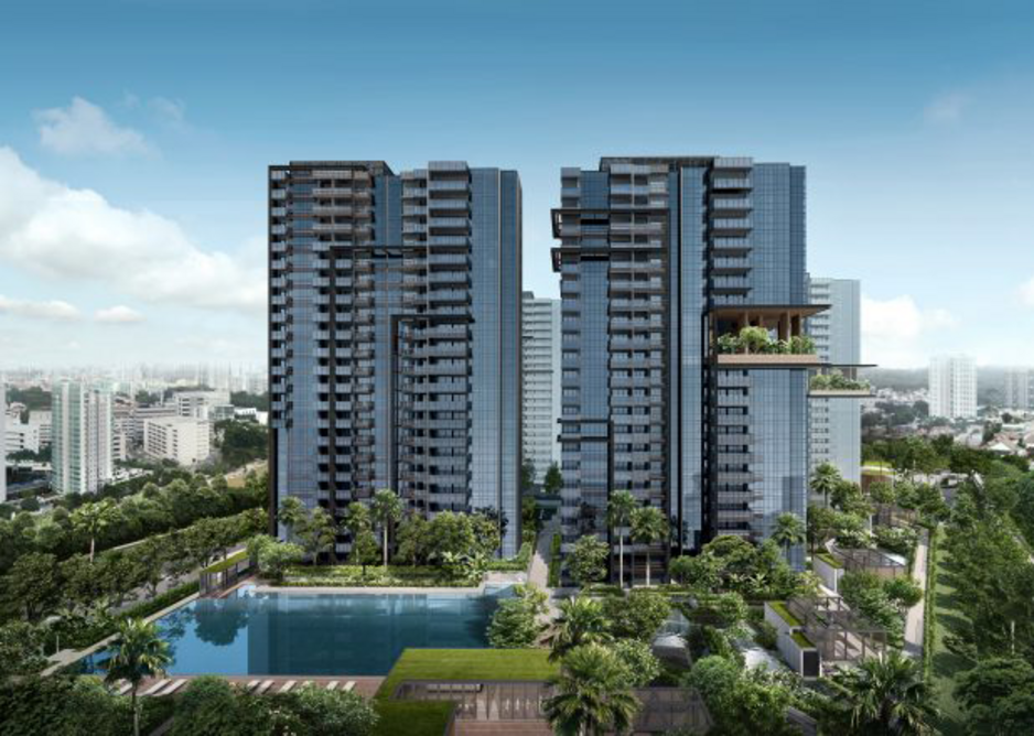 Artist's Impressions of Qingjian Realty's JadeScape, Singapore's first multigenerational residential development.