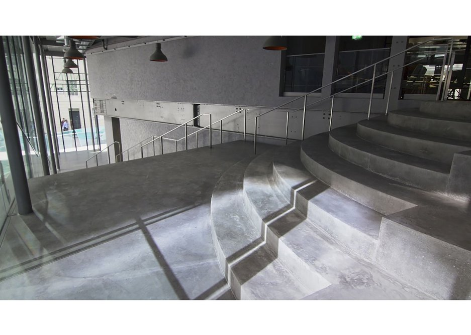 Lazenby's finished polished concrete stair for John Robertson Architects.