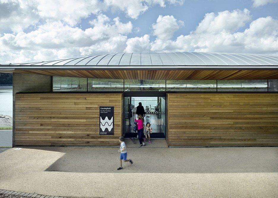 Llandegfedd Visitor Centre east side entrance.